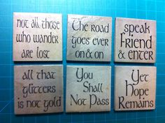 Lord of the Rings Coasters by InspireMeArtandGraph on Etsy, $20.00