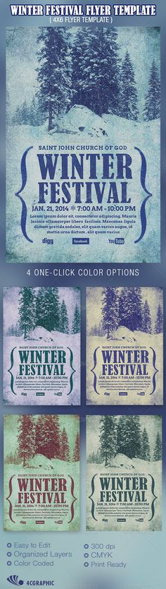 Buy Winter Festival Flyer Template by on GraphicRiver. Winter Festival Flyer Template is great for any Christmas or winter banquet, or concert events.