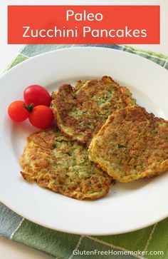 I've made and loved gluten-free zucchini pancakes for years, but I decided to come up with a grain-free, paleo zucchini pancakes recipe to enjoy. Gluten Free Menu, Dairy Free Recipes, Paleo Recipes, Paleo Meals, Paleo Food, Healthy Eating Recipes, Clean Eating Recipes, Healthy Foods, Breakfast For Dinner
