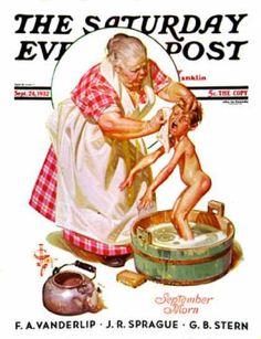 1932-09-24: Saturday Night Bath (J.C. Leyendecker) Saturday Evening Post