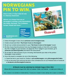 Norwegian launches cruise give-away contest