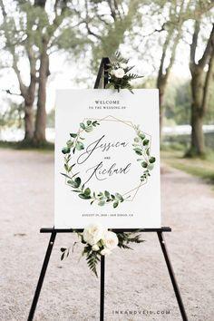 Bridal Shower Welcome Sign, Bridal Shower Signs, Wedding Welcome Signs, Baby Shower Signs, Bridal Shower Rustic, Welcome Poster, Floral Wedding, Sage Wedding, Geometric Wedding