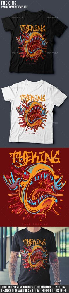 The King TShirt Design — Vector EPS #streetwear #nice • Available here → https://graphicriver.net/item/the-king-tshirt-design/19659458?ref=pxcr