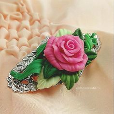 62 Likes, 3 Comments - Artsy Handmade Polymer Clay, Polymer Clay Jewelry, Polymer Clay Flowers, Faux Flowers, Book Art, Delicate, Artsy, Pink Purple, Jewellery