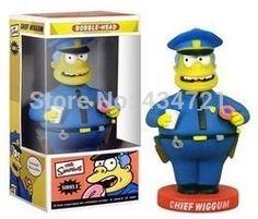 "17.85$  Buy now - http://ali5cf.shopchina.info/go.php?t=1884416334 - ""7"""" Funko Idoit Police Chief  Wiggum From Simpsons Wobble Head Figure Toys "" 17.85$ #magazine"