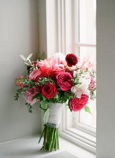 peony and rose bouquet - http://ruffledblog.com/elegant-calhoun-beach-club-wedding