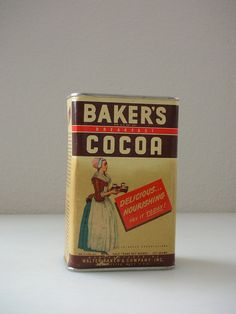 Bakers Cocoa TinWalter Bakers Breakfast by TheBackOfTheBasement, $50.00