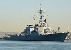 The Arleigh Burke-class guided-missile destroyer USS Decatur (DDG 73) returns to homeport San Diego.