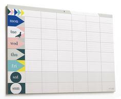 Les petits papiers de Lollipop, un calendrier pour organiser sa semaine.   Stationery paper from Lollipop designs, a calendar to organize your week.