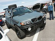 So I'd not need the overhead exhaust because I wouldn't be going through any water or deep mud but I am totally intrigued with the idea of an X5 as an off-road vehicle. The best of both of my favorite worlds!