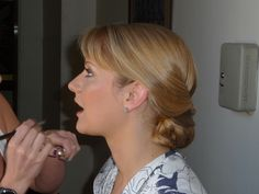 Daughter Katie being 'made up' on her wedding day