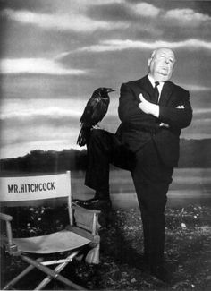 Alfred Hitchcock for The Birds, 1963
