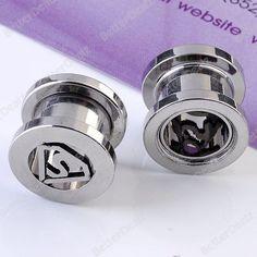 Mr.Piercing Pair of Bullet Stainless Steel Plugs with O-Rings