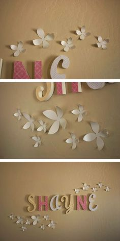 Very easy and inexpensive Wall Flower decorations