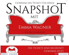 10 Snapshot-Tickets zu gewinnen!!!   Na, wer möchte bei der Frankfurter Buchmesse ein Foto mit mir auf unserem Autorensofa? :-) Bitte kommentiert unter dem Originalpost des Autorensofas. Ich freue mich auf euch! :-) <3 :-) http://on.fb.me/1iLBNeQ