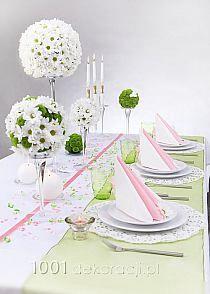 Kompozycje na stół z margaretek