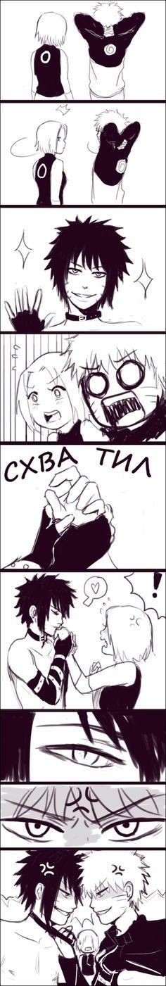 Naruto - Menma, Naruto and Sakura