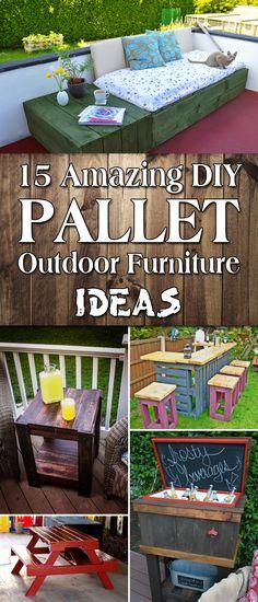 15 Amazing DIY Pallet Outdoor Furniture Ideas