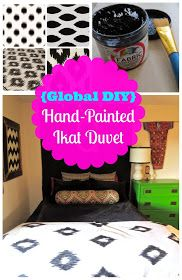 American Gypsy Style: {Global DIY} Hand-Painted Ikat Duvet (With Tutorial!)