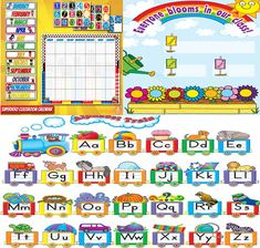Classroom Decorations,Charts and Bulletin Designs for Classroom Classroom Decoration Charts, Classroom Charts, Classroom Design, Days Of Week Printable, Bloom, Decorations, Birthday, Birthdays, Dekoration