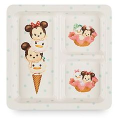 Mickey Mouse and Friends  ''Tsum Tsum'' Tray | Disney Store Serve up style to your dinner party guests with this trendy tray! Starring Mickey and friends in stackably sweet ''Tsum Tsum'' fashion, this tablewear is certain to earn you scoops of compliments.