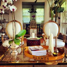 pretty white and gold, hermes tray