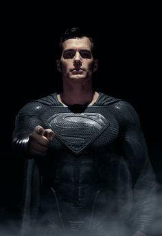Superman Pictures, Superman Artwork, Superman Wallpaper, Black Superman, Superman Man Of Steel, Batman Vs Superman, Superman Stuff, Henry Cavill Justice League, Superman Henry Cavill