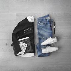 "515ecf1fda01 Phil Cohen on Instagram  ""Black Friday 🖤…let s go shopping.     Sneakers    cqpgallery Denim   bonobos selvedge Sweater   vince boiled cashmere  Oxford  ..."