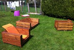 Meuble de jardin on pinterest salons pallet furniture and pool furniture Mobilier de jardin en bois de palette