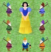 Snow White Set 5 Paper pieced patterns - via @Craftsy
