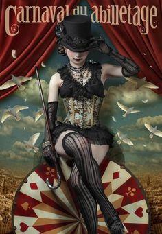 """Advertisement for the Carnaval """"Fun & Games"""" Chain. Dark Circus, Circus Art, Circus Theme, Creepy Circus, Creepy Carnival, Circus Birthday, Birthday Parties, Circo Steampunk, Steampunk Circus"""