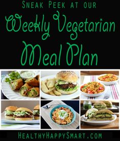 Take a sneak peek at our vegetarian meal plan - 1 whole weeks worth of recipe ideas for vegetarian lifestyle. Detox Recipes, Raw Food Recipes, Veggie Recipes, Cooking Recipes, Healthy Recipes, Detox Meals, Detox Foods, Vegetarian Meal Prep, Vegetarian Lifestyle
