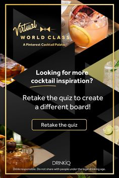 Retake the quiz to create a different board Tea Cocktails, Classic Cocktails, Espresso Martini Ingredients, Kentucky Mule, Ketel One Vodka, Bulleit Bourbon, Peach Ice Tea, Honey Chocolate, Legal Drinking Age