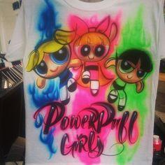Powerpuff girl rainbow airbrush design #airbrush #powerpuffgirls