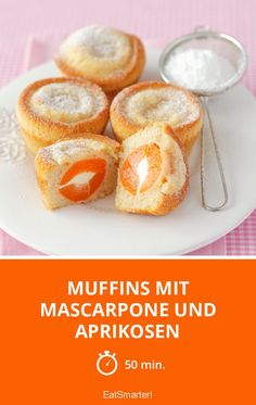Muffins with mascarpone and apricots - Muffin-Rezepte - Kuchen Streusel Muffins, Cupcake Cakes, Cupcakes, Cake & Co, Eat Smarter, French Toast, Bakery, Cheesecake, Salads