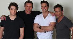 (from left) Bradford Anderson, Steve Burton, Brandon Barash, Scott Reeves