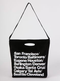 Bull Denim Woven Cotton Cities Bag with Strap in Black by #AmericanApparel