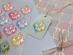 Eid Mubarak Moroccan Quatrefoil Stickers with Rose Gold Foil Eid Crafts, Ramadan Crafts, Ramadan Decorations, Eid Mubarak Stickers, Eid Stickers, Eid Mubarak Gift, Eid Favours, Vinyl Sticker Paper, Money Envelopes