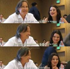Robert and Emilie so cute and funny ! Once Upon A Time Funny, Once Up A Time, Rumple And Belle, Funny Black Memes, Ouat Cast, Emilie De Ravin, Be More Chill, Robert Carlyle, A Series Of Unfortunate Events