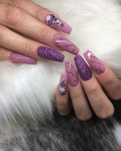 39 Awesome Gradient Marble Nail Art Designs You Must Try - - Fabulous Nails, Gorgeous Nails, Pretty Nails, Nail Lacquer, Nail Polish, Marble Nail Art, Coffin Shape Nails, Manicure E Pedicure, Dope Nails