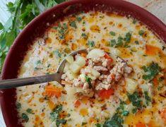 Pyszna i sycąca zupka-do tego przygotujesz ją w 30 min i naje się cała rodzina-polecam gorąco Składniki: 600g mięsa mielonego ...