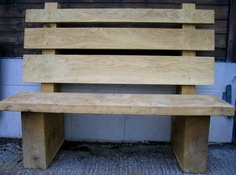 Green oak bench
