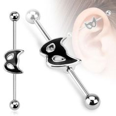 Cat Mask Industrial Barbell