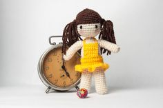 Handmade crochet travel toy - amigurumi doll with a ball Hannah, travel buddy friend traveler best photo vacation trip holiday traveller https://www.etsy.com/shop/Theordinarydiary