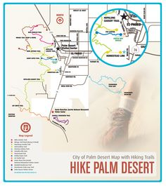 Free hiking maps for Palm Desert & Palm Springs