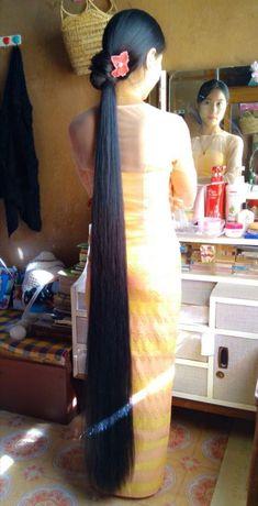 Long Ponytail Hairstyles, Long Hair Ponytail, Indian Hairstyles, Really Long Hair, Super Long Hair, Long Black Hair, Long Layered Hair, Anime Long Hair, Gypsy Hair
