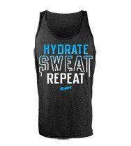 FitnessSanctum.com Hydrate Sweat Repeat men's CrossFit-style Tank Tops from G2OH-- $29---- (fitnessssanctum.com...