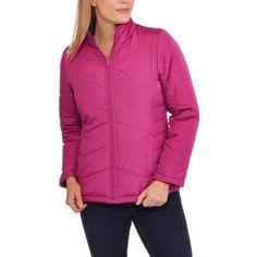 Faded Glory Women's Lightweight Bubble Jacket, Size: XS, Purple
