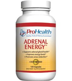 Adrenal Energy by ProHealth (Adrenal Support Supplements). Boost Adrenal Health for More Energy. Supports adrenal glands to maintain energy levels. Nutritional support for stress. Power-packed with prime energy nutrients . Available at ProHealth.com ($25.49) #ProHealth