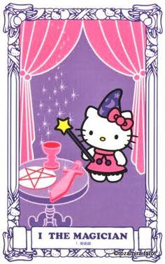 hello kitty tarot - the magician